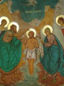 icoana botezului